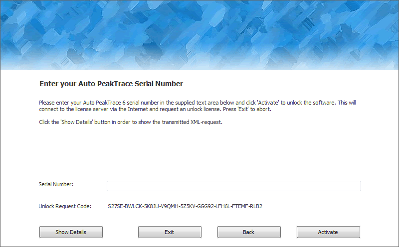Auto PeakTrace 6 Online Activation Step 2