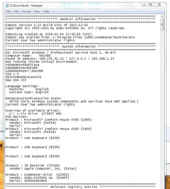 cMDust file