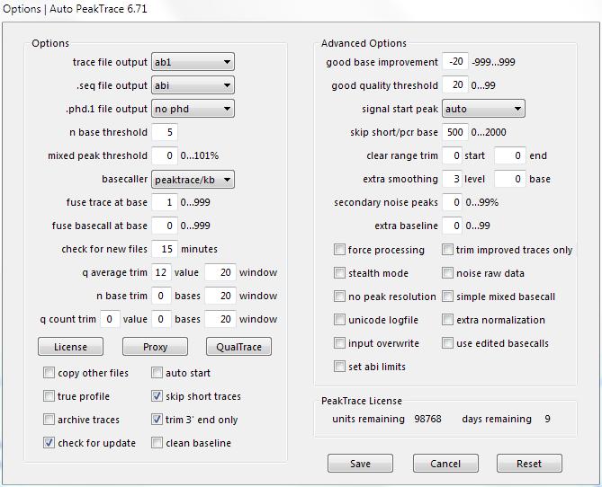 Auto PeakTrace 6.71 & PeakTrace 6.71 Released